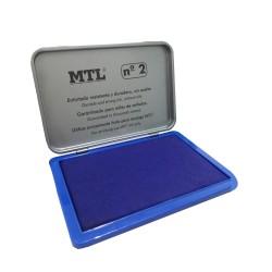 BOITE ENCRE A TAMPON MTL 109*70MM METAL DOHE