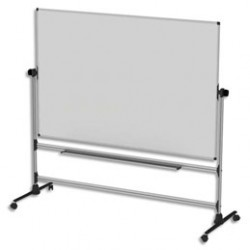 "TABLEAU BLANC DOUBLE FACE MOBILE 120X90 ""TDS129"""