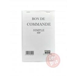 CARNET BON DE COMMANDE 40F SIMPLE 14*21