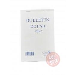 CARNET BULLTEIN DE PAIE 20*2EXP 14*21 RIBAT