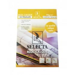 BLOC CALQUE DE 50F SELECTA/ VILALUXE A4