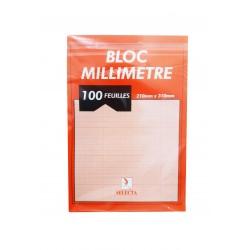 BLOC PAPIER MILLIMITRIQUE A4 100F