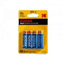PILE KODAK MAX SUPER ALKALINE 1.5V AA 4PCS