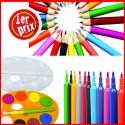 Coloriage ( crayon de couleur, feutre, gouache etc.)